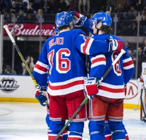 December 22, 2019: The New York Rangers defeat the Anaheim Ducks, 5-1, at Madison Square Garden in New York City.